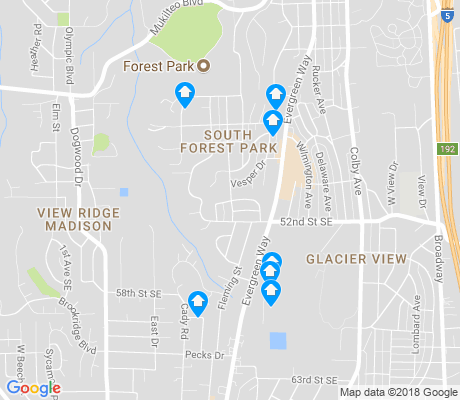 map of South Forest Park apartments for rent