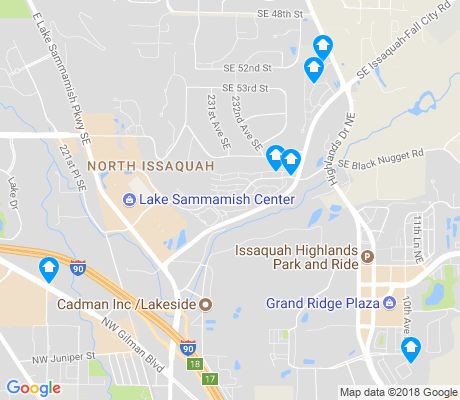map of North Issaquah apartments for rent