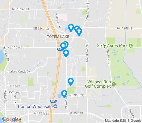 map of North Rose Hill apartments for rent