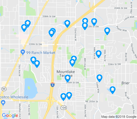map of Mountlake Terrace apartments for rent
