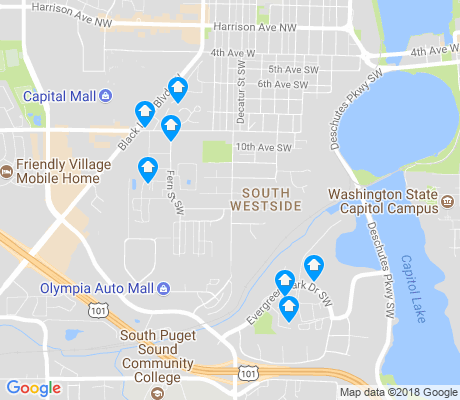 map of South Westside apartments for rent