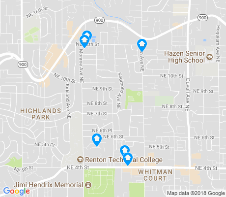 map of President Park apartments for rent
