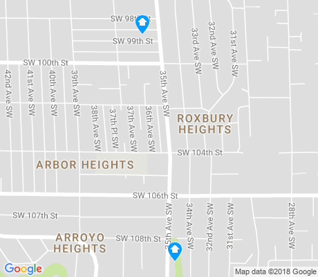 map of Arbor Heights apartments for rent