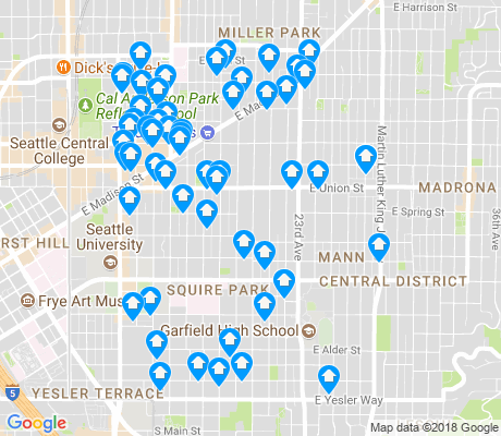 map of Central District apartments for rent