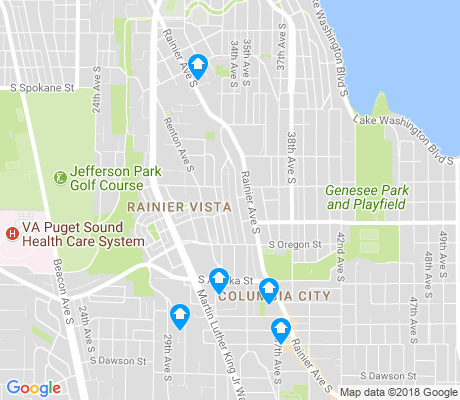 map of Columbia City apartments for rent