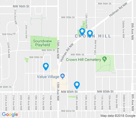 map of Crown Hill apartments for rent