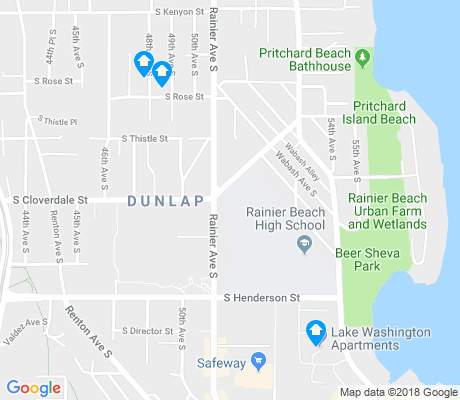 map of Dunlap apartments for rent