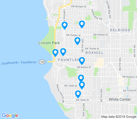 map of Fauntleroy apartments for rent
