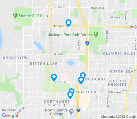 map of Haller Lake apartments for rent