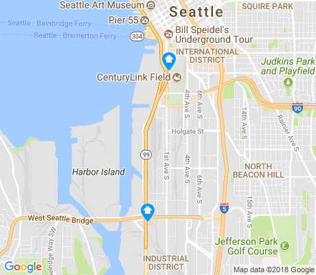 map of Industrial District apartments for rent