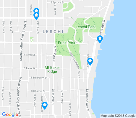 map of Leschi apartments for rent