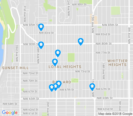 map of Loyal Heights apartments for rent