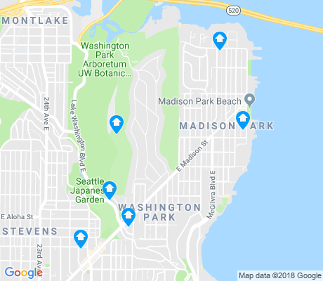 map of Madison Park apartments for rent