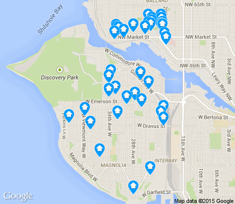 map of Magnolia apartments for rent