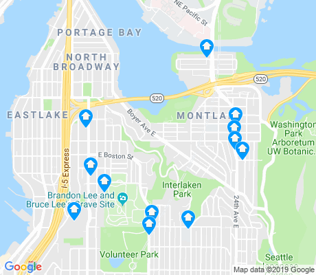 map of Montlake apartments for rent