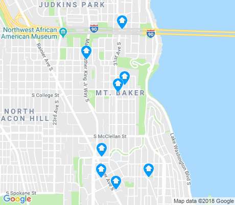 map of Mount Baker apartments for rent