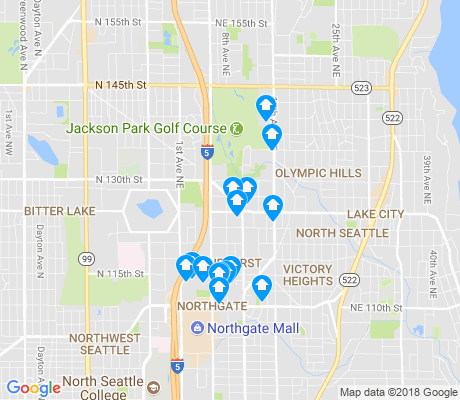 map of Pinehurst apartments for rent