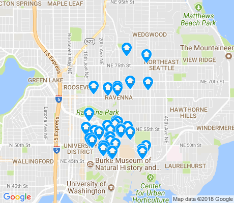 map of Ravenna apartments for rent