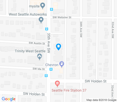 map of Roxhill apartments for rent