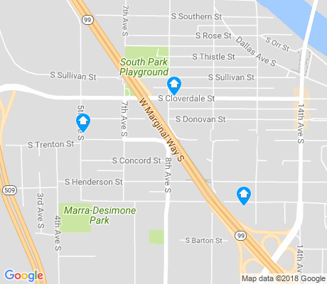 map of South Park apartments for rent