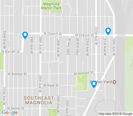 map of Southeast Magnolia apartments for rent