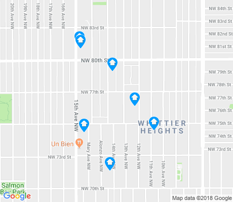 map of Whittier Heights apartments for rent