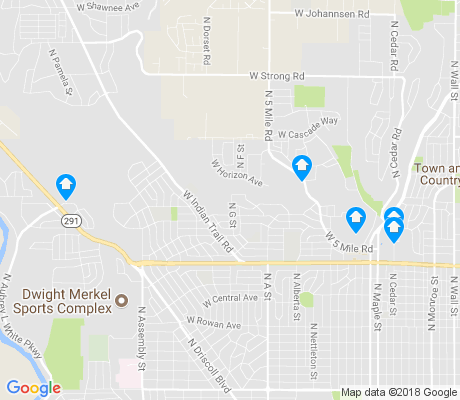 map of Balboa apartments for rent