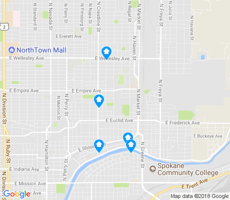 map of Bemiss apartments for rent