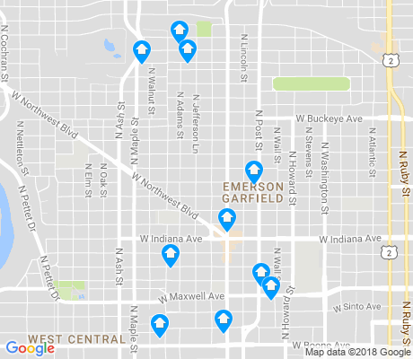 map of Emerson Garfield apartments for rent