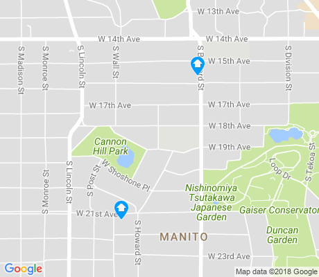 map of Manito apartments for rent