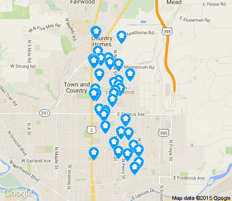 map of Nevada/Lidgerwood apartments for rent