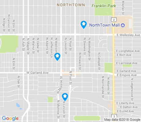 map of Northtown apartments for rent