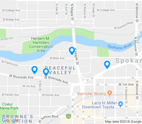 map of Peaceful Valley apartments for rent