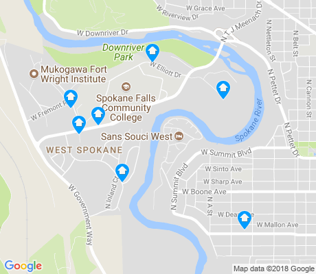 map of West Spokane apartments for rent