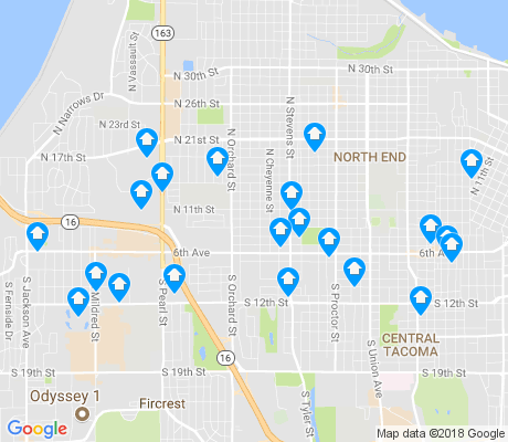 map of 98406 apartments for rent
