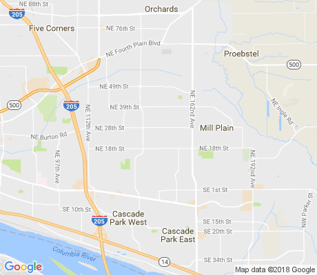map of Burton Evergreen apartments for rent