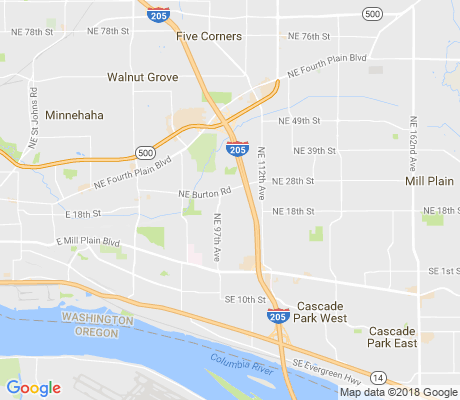 map of Burton Ridge apartments for rent