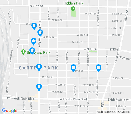 map of Carter Park apartments for rent