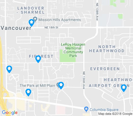 map of Fircrest apartments for rent