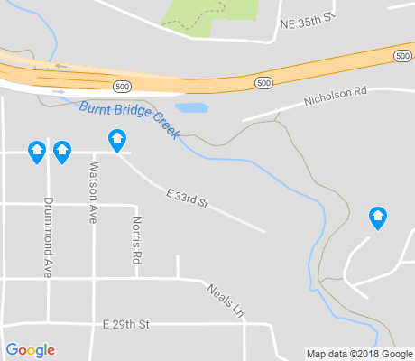 map of Fourth Plain Village apartments for rent