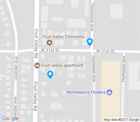map of Fruit Valley apartments for rent