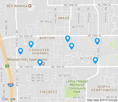 map of Landover - Sharmel apartments for rent