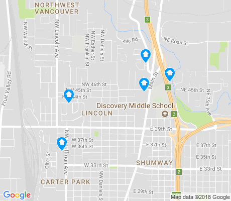 map of Lincoln apartments for rent