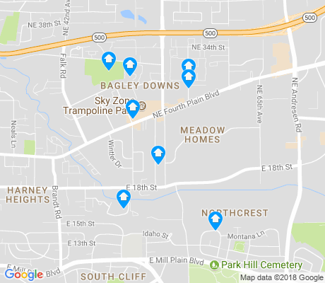 map of Meadow Homes apartments for rent