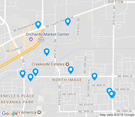 map of North Image apartments for rent