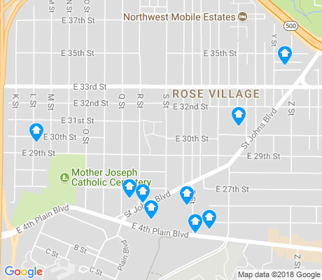 map of Rose Village apartments for rent