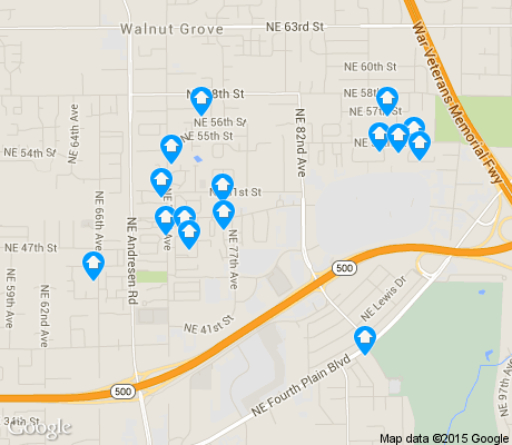 map of Van Mall apartments for rent