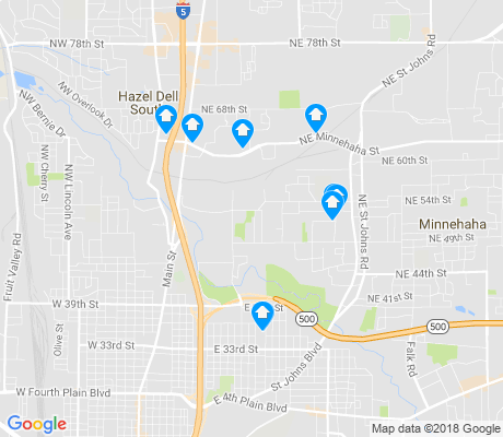 map of West Minnehaha apartments for rent