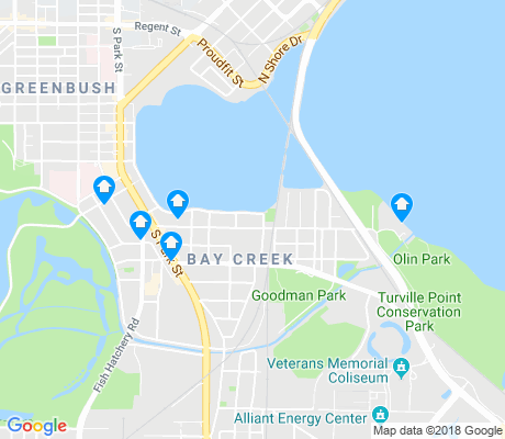 map of Bay Creek apartments for rent