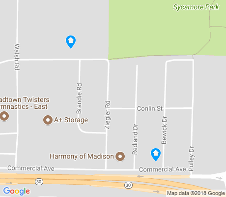 map of Burke Heights apartments for rent